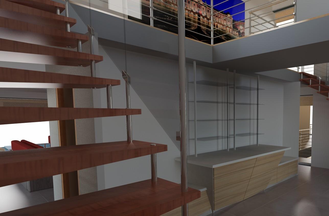 TopSolid Wood Wizualziacja Schodów Program do Projektowania Mebli