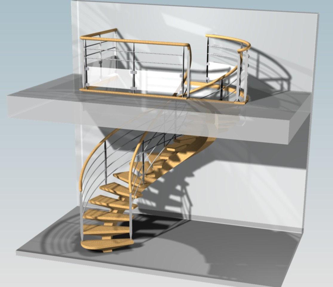 TopSolid Wood Wizualizacja schodów 2