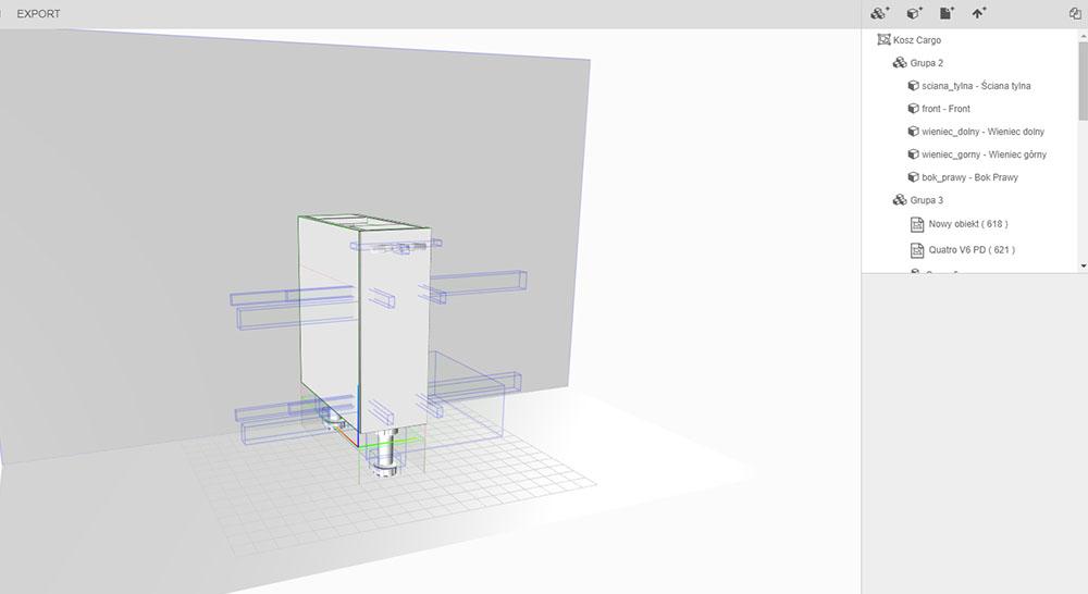Variantic - internetowy konfigurator produktów - projekt cargo