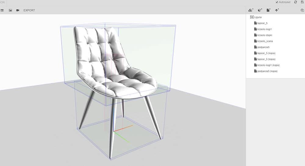 Variantic - Krzesło Tapicerowane - Projekt