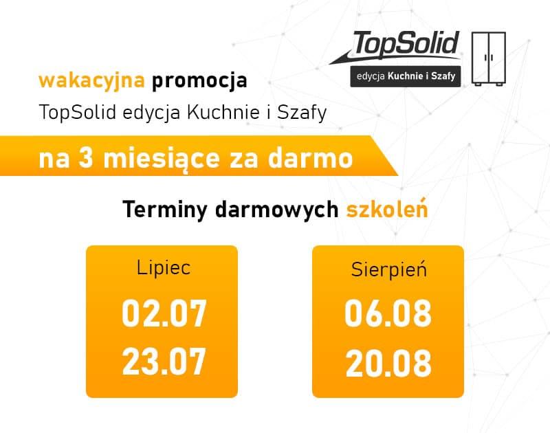 TopSolid edycja Kuchnie i Szafy - Darmowa wersja na 3 miesiące. Wakacje 2021